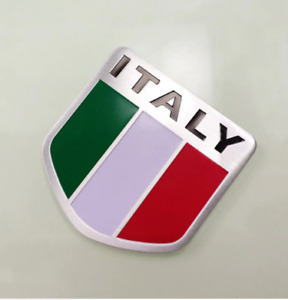 Italian flag car badge made from aluminium alloy for Fiat , Alfa Rameo etc