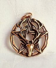 Bronze Stag Horned God Cern Pentagram Pentacle Pendant~Pagan~Talisman~Jewellery
