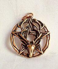 Bronze Cerf Dieu Cornu Pentacle Pentagramme Cern Pendentif~Pagan~Talisman~Bijou