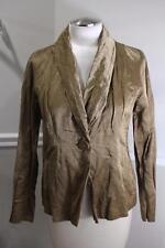 EILEEN FISHER women's bronze crinkle cotton nylon jacket size PM(j200)