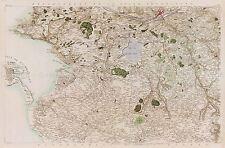 Carte Cassini France 18ème siècle Nantes Vendée grand imprimé Poster réplique pam0797