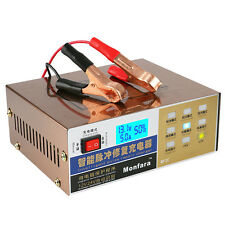 12V/24V Full Automatic Electric Car Battery Charger Intelligent Pulse Repair