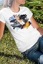George Michael Women White Tee Shirt Pop Music RIP In Memory T-Shirt