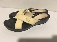 Salvatore Ferragamo Womens Sandals Size 7 patent Leather Wedge Heel 7a