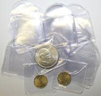 Münztaschen, Münz-Hüllen bis max. 46mm Durchmesser,100 Stück, 1OZ Münzhüllen NEU