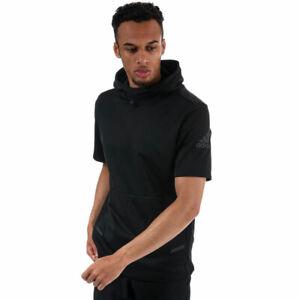 Adidas Men's Black Hooded Short Sleeve Workout Top Size UK M RRP £80