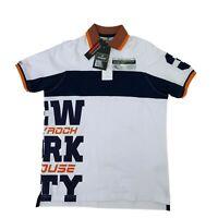 Polo Rock House Shirt Mens Size M Slim Fit Short Sleeve New York City NYC Print*