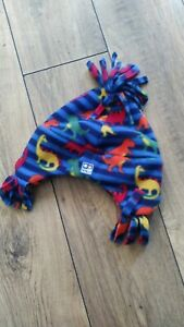 Jojo maman bebe in the snow polar fleece bobble hat bright dino dinosaur 1-2 AGE