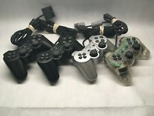 LOT of 4 - Sony Playstation 2 Controller DualShock 2 - For Parts/Repair - ZK