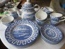 Teeservice kompl. für 6 Personen,  Broadhurst/Royal England Blue Blau