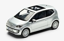 NEW GENUINE VW UP 2 DOOR SILVER METALLIC 1:43 SCALE DIECAST MODEL CAR