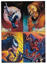 1995 Fleer Ultra SPIDER-MAN trading cards - 4 card uncut PROMO sheet.