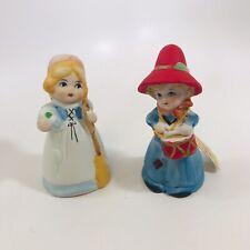 Merri Bells Cinderella Girl and Christmas Drummer Boy Porcelain Jasco 1978