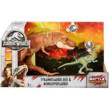 Jurassic World Battle Damage Tyrannosaurus Rex & Monolophosaurus * Dinosaur park
