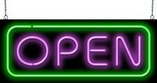 Deluxe Open Purple & Green Neon Sign | Jantec | 2 Sizes | Restaurant Diner Bar