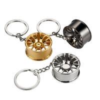 Metal Wheel Hub Keyring Keyfob Bags Car Key Hanging Pendant Chain Accessory Gift