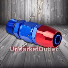 Red/Blue Straight Swivel Oil/Fuel/Fluid Line Hose End 12AN T2 Fitting Adapter