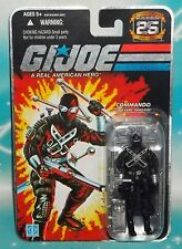 G I GI JOE 25TH ANNIVERSARY NINJA COMMANDO SNAKE EYES BUTTERFLY KNIFE FIGURE MOC
