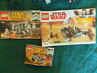 LEGO Star Wars Small Sets no minifigs with instruction 75078,75198,30275