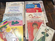 New ListingLot of 14 Vintage Paper Dolls