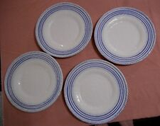 Gubbio Italy CAFF Plate Dinner Plate 11.5 Inch Blue Circles Lot of 4