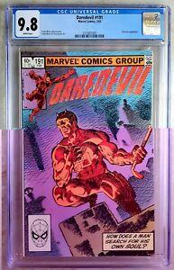 Daredevil #191 Bullseye Marvel 1983 CGC 9.8 NM/MT White Pages Comic P0051