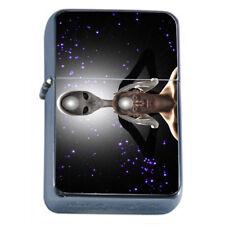 Zen Alien Em2 Flip Top Oil Lighter Wind Resistant With Case