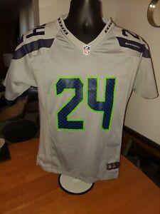 Nike NFL Seattle Seahawks #24  Marshawn Lynch 12th Man Jersey Youth Large 14-16