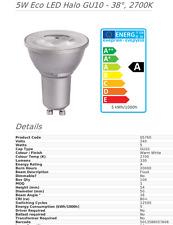 BELL 05760 5W Eco LED Halo Light Bulb GU10 - 38°, Pack of Ten Light Bulbs