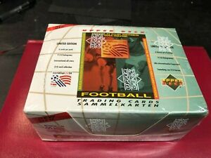 FOOTBALL WORLD CUP USA 1994 FACTORY SEALED BOX OF UPPER DECK TRADE CARDS 9 HOLOS