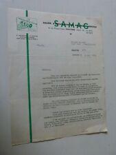 lettre a entete SAMAG / tondeuses a gazon GABY