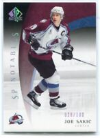 2005-06 SP Authentic Limited 102 Joe Sakic 28/100 Notables
