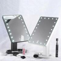 New 22 LED Touch Screen Makeup Mirror Tabletop Cosmetic Vanity light up Mirror-