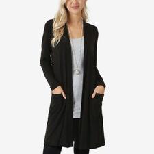 Women's Cardigan Duster Long Sweater Flyaway Open Front Long Sleeve With Pocket