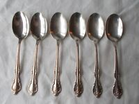 6 Rogers & Bro SOUTHERN SPLENDOR Set TEASPOONS Silverplate Flatware IS Lot