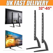 """Table Top TV Stand Pedestal Screen Monitor 32"""" 42"""" 50"""" 60"""" 65"""" for Samsung LG"""