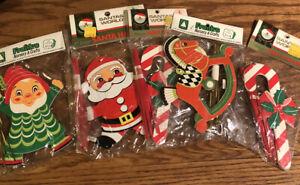 5 VTG Santa's World & Frank's Nursery Crafts Christmas Ornaments - Santa & More
