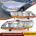 for 1998 1999 2000 2001 2002 Honda Accord Chrome Headlights Headlamps Left+Right