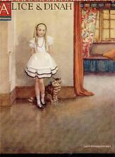 Original Ex Libris Alice In Wonderland-Alice & Dinah Ilus Gwynedd Hudson 1922