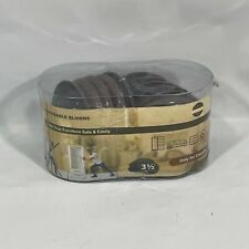 Furniture Sliders for Carpet 14pk Chocolate Brown 3 1/2 Size