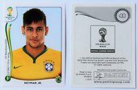 Panini WM 2014 - Sticker Neymar # 48 - World Cup Rookie Brazil RARE