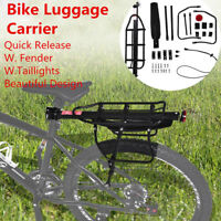 Bike Bicycle Quick Release Luggage Seat Post Pannier Carrier Rear Rack with Fend