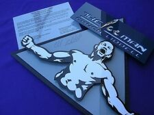 CHUCK LIDDELL 3D art  signed COA NEW man cave MMA Hall of FAME cage Affliction
