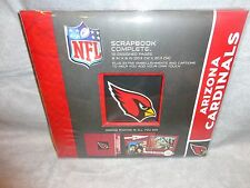 "ARIZONA CARDINALS TEAM LOGO SCRAPBOOK COMPLETE KIT 8""X8"" NFL W EMBELISHMENTS"