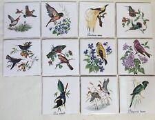 Reclaimed Ceramic Bird Art Wall Tiles*11* H&R Johnson 11cm x 11cm