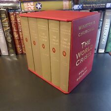Folio Society THE WORLD CRISIS, Winston S. Churchill, 5 Vols, 1st, Slipcase, WWI