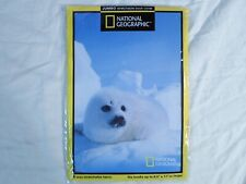 New! Fabric Book Cover National Geographic *Snow Seal* Pup Puppy School 8.5 x 11