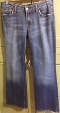 "7 For All Mankind Jeans Mens Flared Distressed Ombré Low Rise Size 30"" W 31""L"