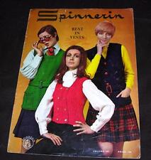 VTG 1969 SPINNERIN HOW TO KNIT BEST IN VESTS - MOD VESTS FOR YOU TO MAKE!