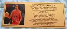 Basketball SCOTTIE PIPPEN Pic gold plaque FREE POST